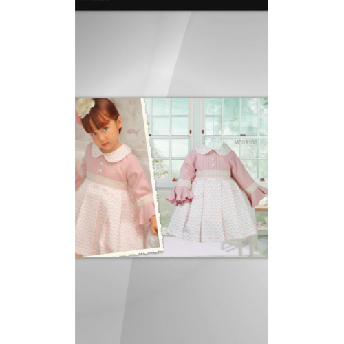 Pink Traditional Spanish Vintage Dress
