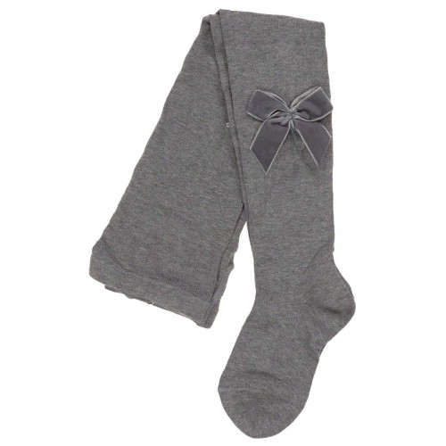Velvet Bow Tight Grey