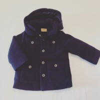 Boys Navy Hooded Coat