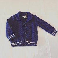 Boys Navy Knit Cardigan