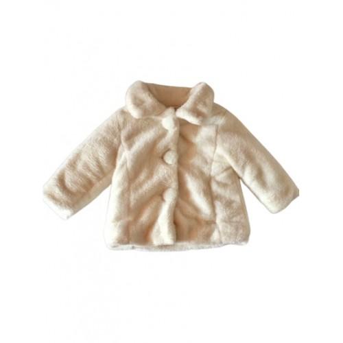 Baby Girls Cream Fur Coat