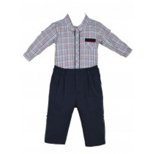 Trouser & Check Shirt Set