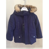 MAYORAL Boys Fur Hood Coat