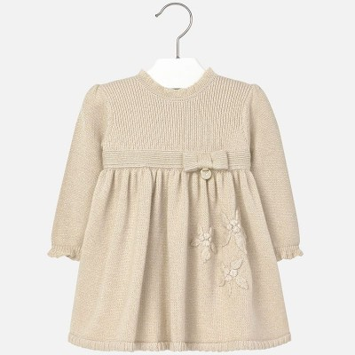 Girls Mayoral Gold Dress