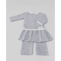 Girls Knitted Top & Trouser Set