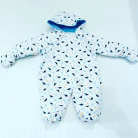Boys Dino Hooded Snow Suit