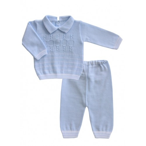 Boys Blue Knit Set