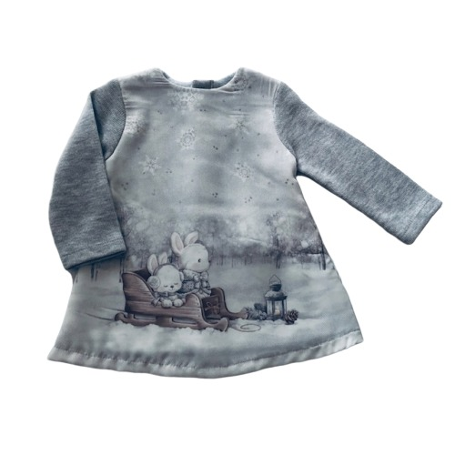 Baby Girls Magical Winter Scene Dress