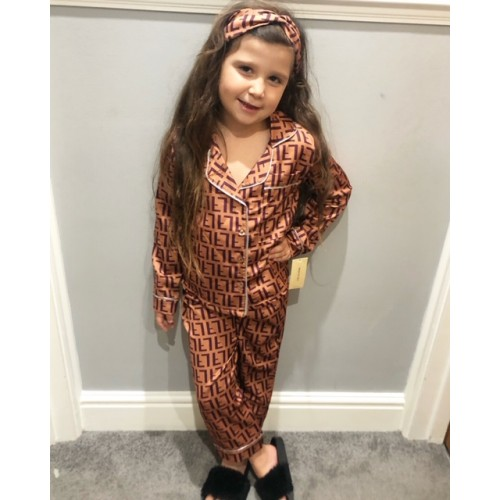 FENA SILKY PJAMA'S WITH MATCHING HEADBAND